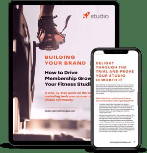 Studio eBook - Building your brand mockup